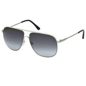 Tom Ford Sunglasses Silver w/Blue Lens